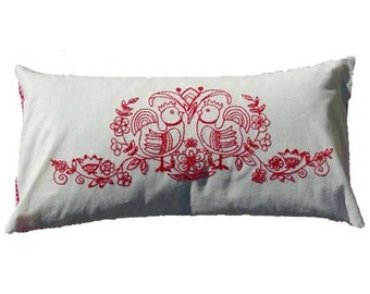 Embroidery pattern SCANDINAVIA - red,needlepoint,cross stitch,pillow cover,cushion,swedish embroidery,embroidery pillow,diy,Anette Eriksson