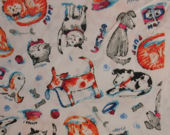 Cats /& Dogs Cotton Fabric by The Yard with Soft Tape Measure- 100/% Cotton 63x39.3 for Sewing Quilting Crafting Red Cat 160cmx100cm