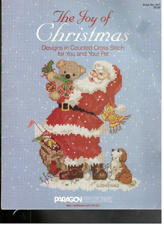 Joy Of Christmas Counted Cross Stitch Patterns Santa Clause Etsy Gorgeous Needlepoint Patterns