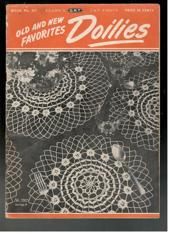 Vintage 1940s Doily Patterns Book Old And New Favorites Etsy