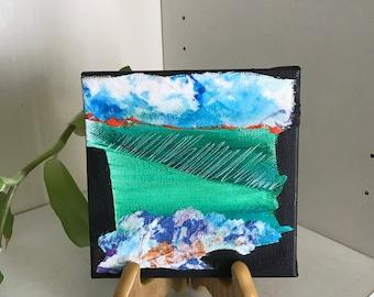 Abstract Art Small Mixed Media Painting