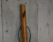 Feather Hickory Walking Stick, Staff, walkingstick, Kiln Dried, Trecker, Feather Carving, Natural Hiking Stick, Up to 60 quot Tall