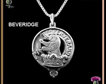Scottish pendant etsy beveridge clan crest scottish pendant scottish necklace sterling silver clp02 aloadofball Images