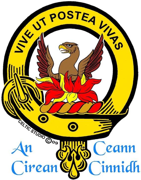 Johnston Clan Crest Scottish Thistle Brooch