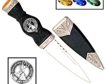 Forbes Clan Crest Sgian Dubh, Scottish Knife