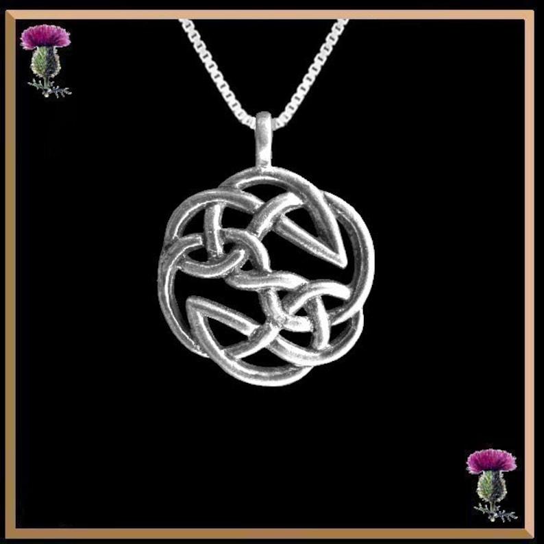 Celtic Geometric Interlace Pendant