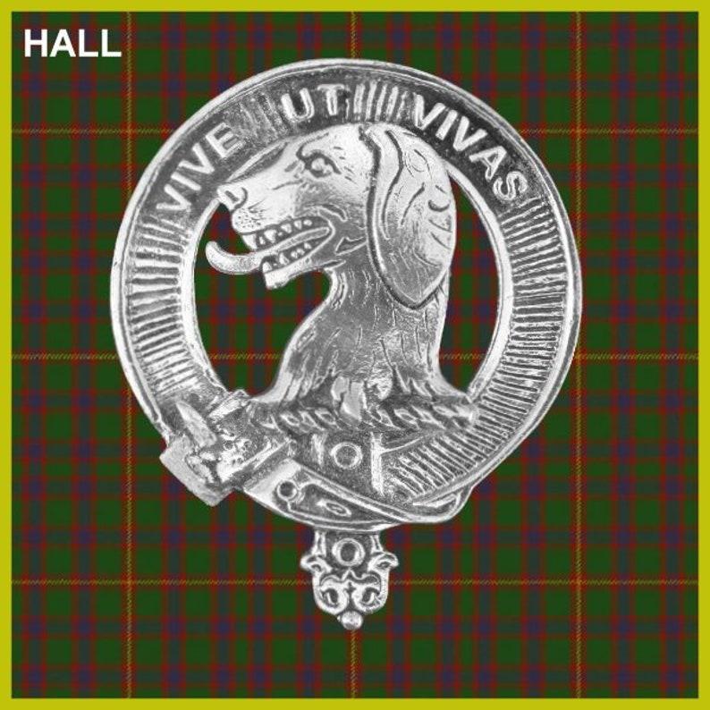 Hall Clan Crest Badge Skye Decanter