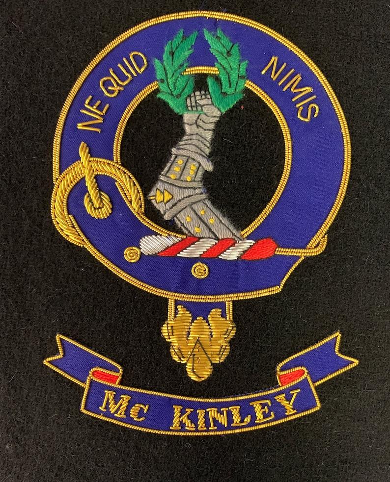 McKinley Clan Large Embroidered Crest