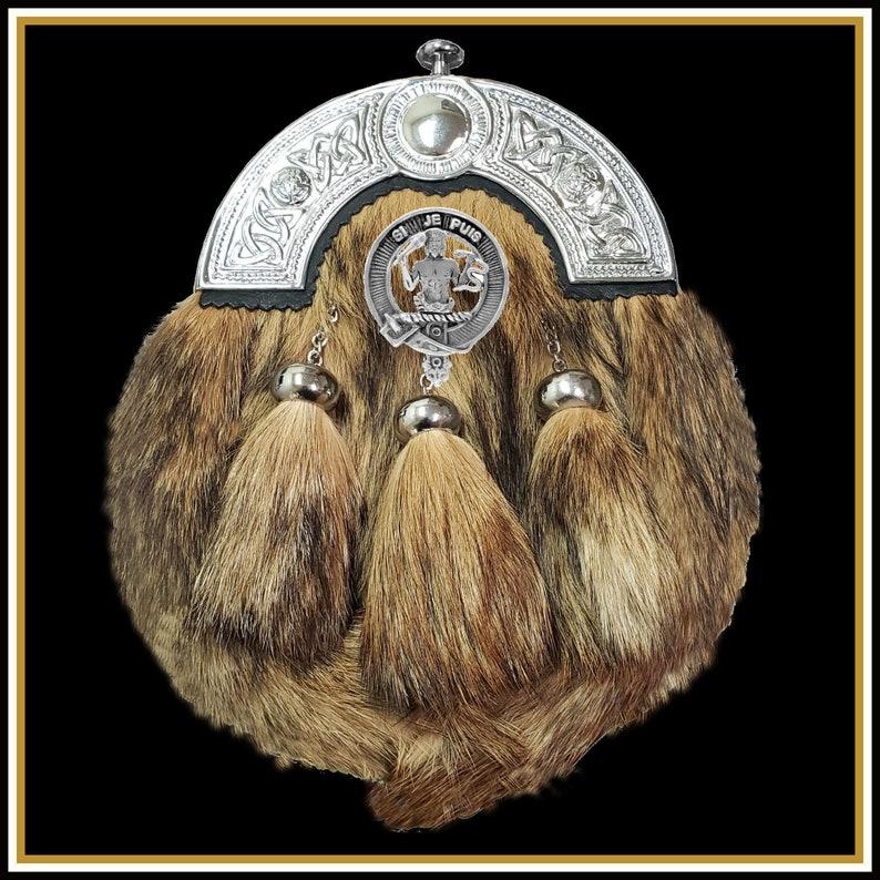 Livingston Scottish Clan Crest Badge Dress Fur Sporran