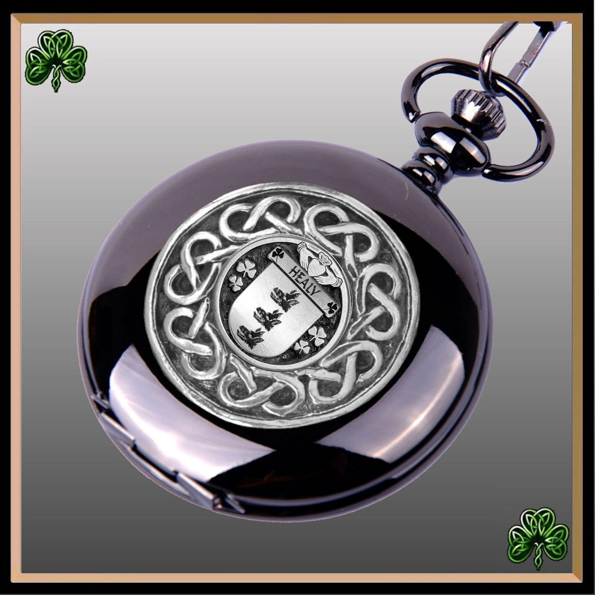 Wilcox Irish Coat of Arms Interlace Kilt Buckle