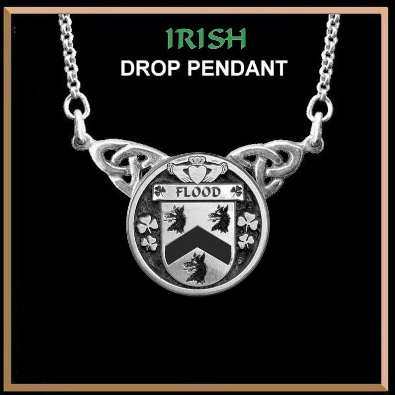 Flood Irish Coat of Arms Double Drop Pendant ~ ILP03