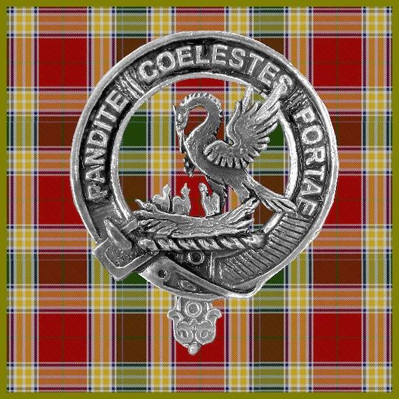 Tartan Clan Gunn Engraved Gold-Tone Money Clip