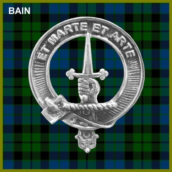 Gray Scottish Clan Crest Lapel Pin Badge Gift