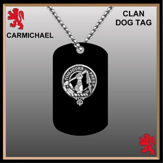 Clan Crest Black Dog Tag - All Clans