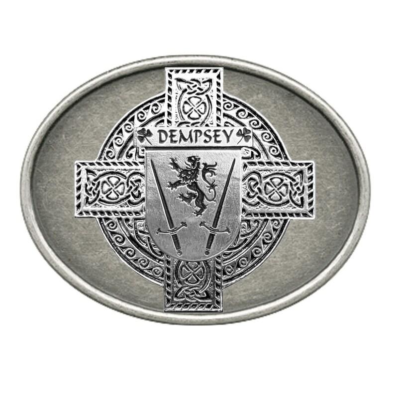 Dempsey Irish Coat of Arms Regular Buckle