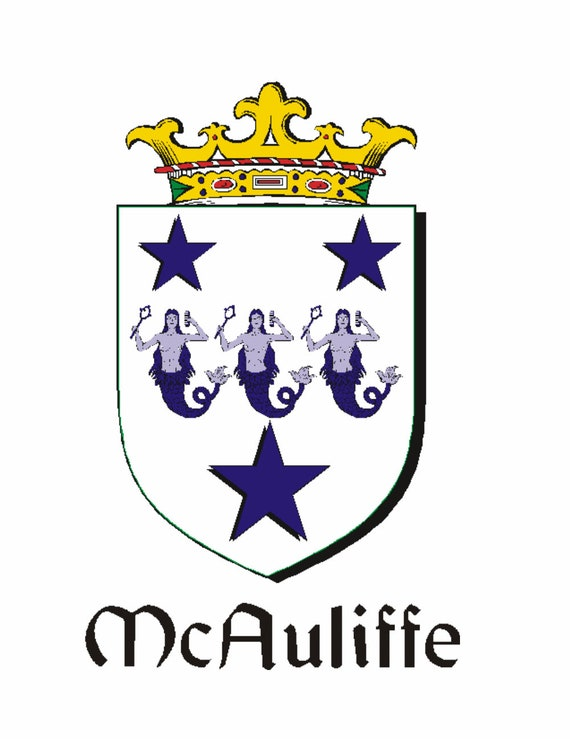 Mc Ireland Family Crest Coat Of Arms Cufflinks Personalised Case Select Gifts Auliffe