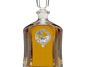 Mac Donald (Clan Donald) Clan Crest Badge Skye Decanter