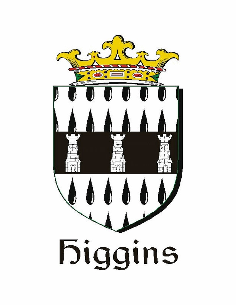 Higgins Irish Coat of Arms Sporran Genuine Leather