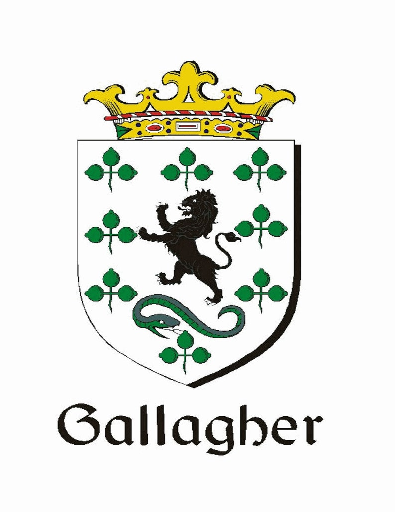 Genuine Leather Gallagher Irish Coat of Arms Sporran