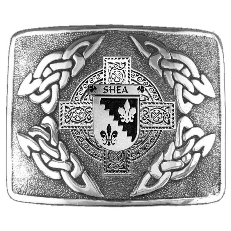 Shea Irish Coat of Arms Interlace Kilt Buckle