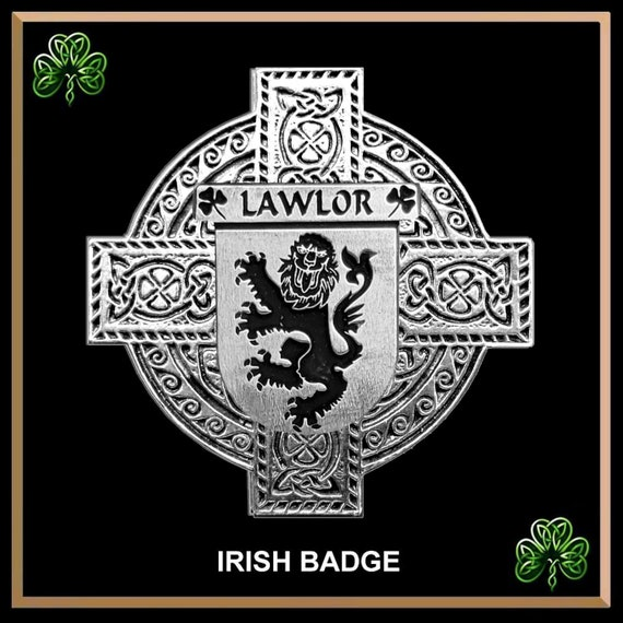 Lawlor Irish Knight Series Tie Bar Coat Of Arms Sterling Silver