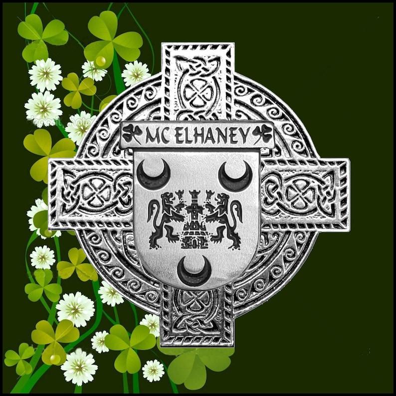 McElhaney Irish Dublin Coat of Arms Badge Decanter