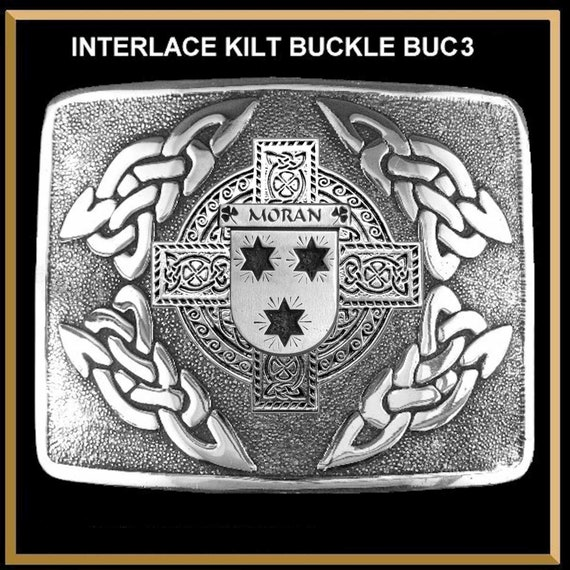 Griffin Irish Coat of Arms Interlace Kilt Buckle