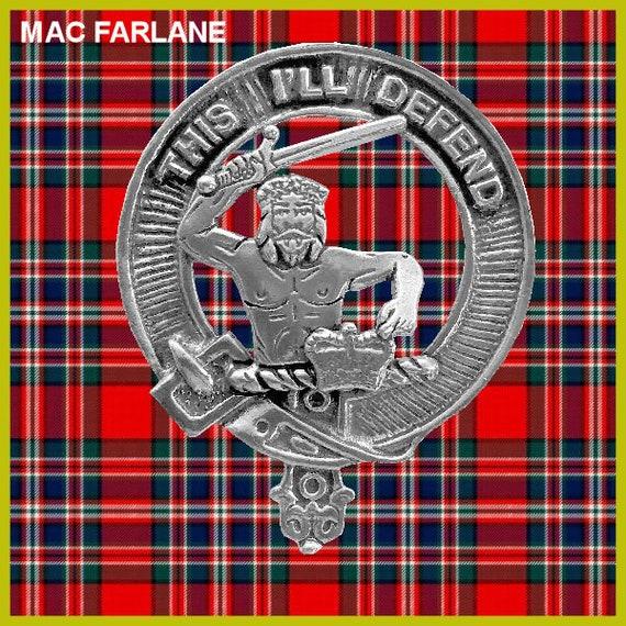MacFarlane Clan Crest Scottish Cap Badge