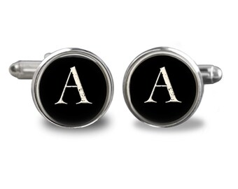 Monogram  Cufflinks  All Letters Available