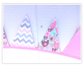 Elephant Banner, Baby Shower Banner, Elephant, Pink, Grays, Chevron, Fabric Banner, Home Decor, Pennant Flags, Bunting