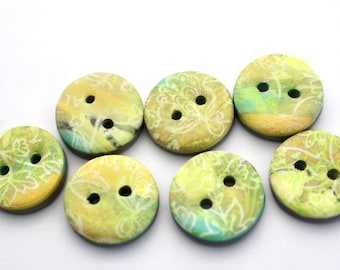 Polymer clay buttons Small buttons Bronze colored buttons set of 7 small buttons no. 368