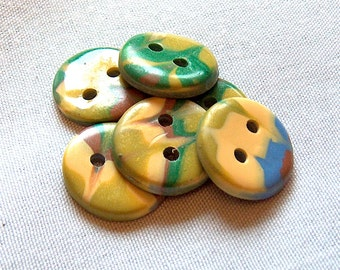 Yellow, Green and Blue Buttons No.240