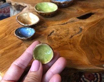 Boho graduated ceramic nesting bowls