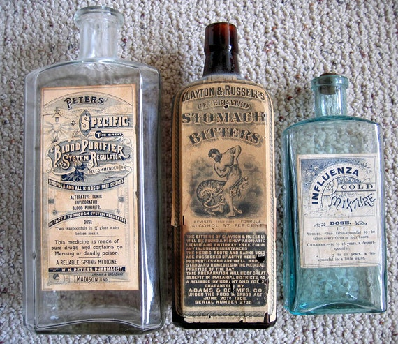 Bottles Antique Green Glass Bottle Nourishing The Kidneys Relieving Rheumatism