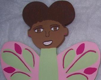 Beautiful Black Butterfly Girl