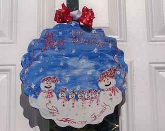 Personalized Christmas Family Door Decor