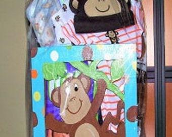 "Sun Chics ""Gift That Art"" and ""Art That Gift"" Monkey Theme Gift Box"