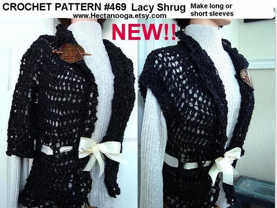 Shrug Pattern So Easy Lacy Shrug Vest Sweater Jacket Etsy