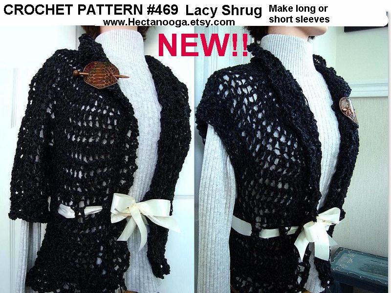 SHRUG PATTERN so easy Lacy Shrug Vest Sweater Jacket