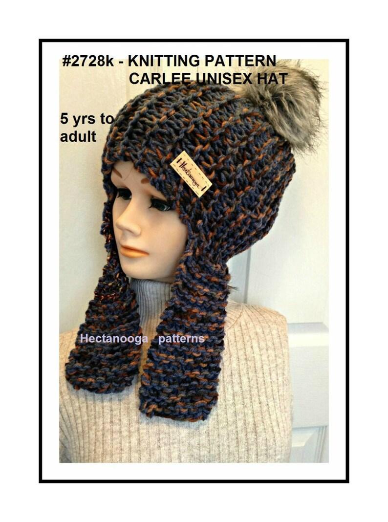 ebc1b8884c6 Hat knitting pattern Unisex Beanie Hat Ear Flap Hat