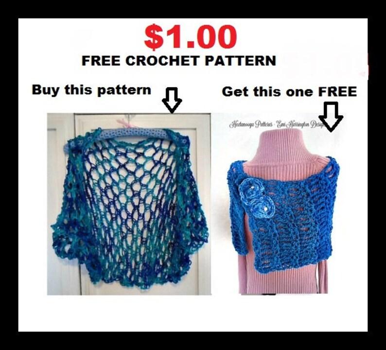 Crochet Shawl Wrap Pattern Crochet Shrug Free Crochet Etsy