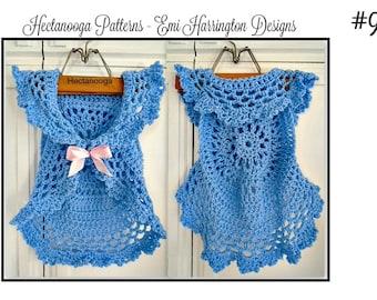 Easy PATTERNS, Crochet Pattern, Bohemian Mandala Vest, kids, child, children, 2 - 8 yrs, crochet for girls, one hour vest, sweater vest,#986