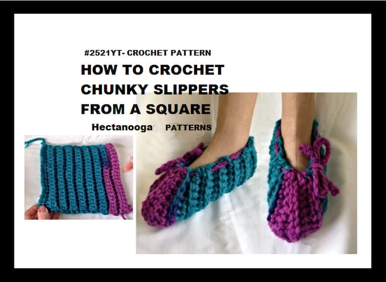 Easy crochet slippers pattern pdf instant download all image 0