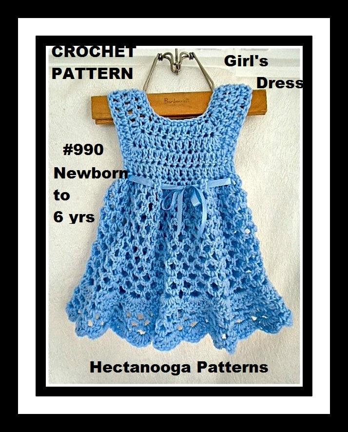 Crochet Baby Dress Pattern Ellyn Girls Dress Patterns Etsy