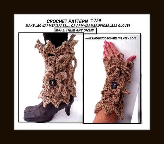 Lacy Leg Warmerscrochet Pattern Boot Cuffs Or Arm Warmers