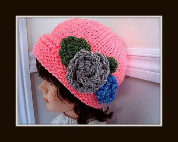 Hat Knitting Pattern Phoebe Adult Hat Pattern For Etsy