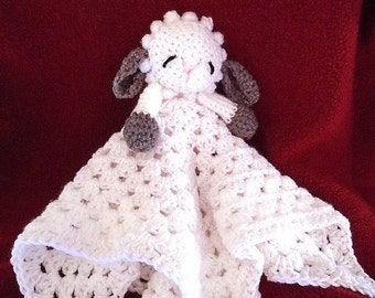 Easy Crochet PATTERN, Little Baby Lamb Cuddle Blanket, Nursery, baby gift, shower gift, Lovey Blankie, Baby blanket, Snuggle Blanket, # 763