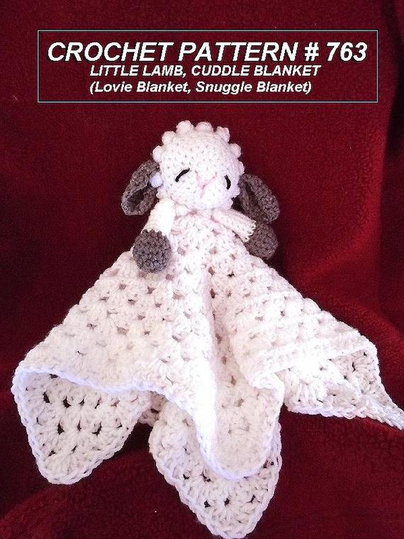 Crochet Pattern Little Baby Lamb Cuddle Blanket Baby Gift Etsy