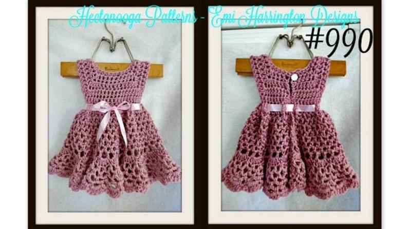 fda0758052a6 Crochet baby dress pattern Crochet baby clothes Crochet | Etsy