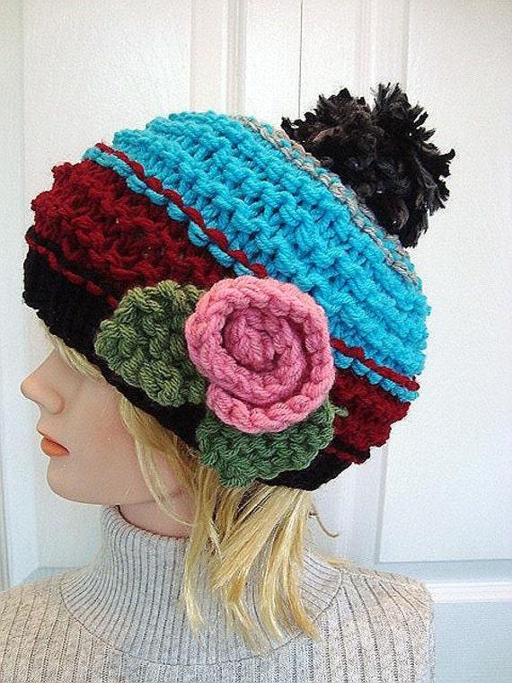 Knit Hat Knitting Pattern Beginner Level Childrens Hat Baby Etsy